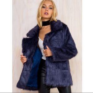Somedays lovin hocus faux fur coat xs